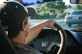 車,運転,キャップ,男性