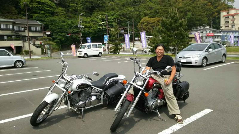 バイク,2台,職人
