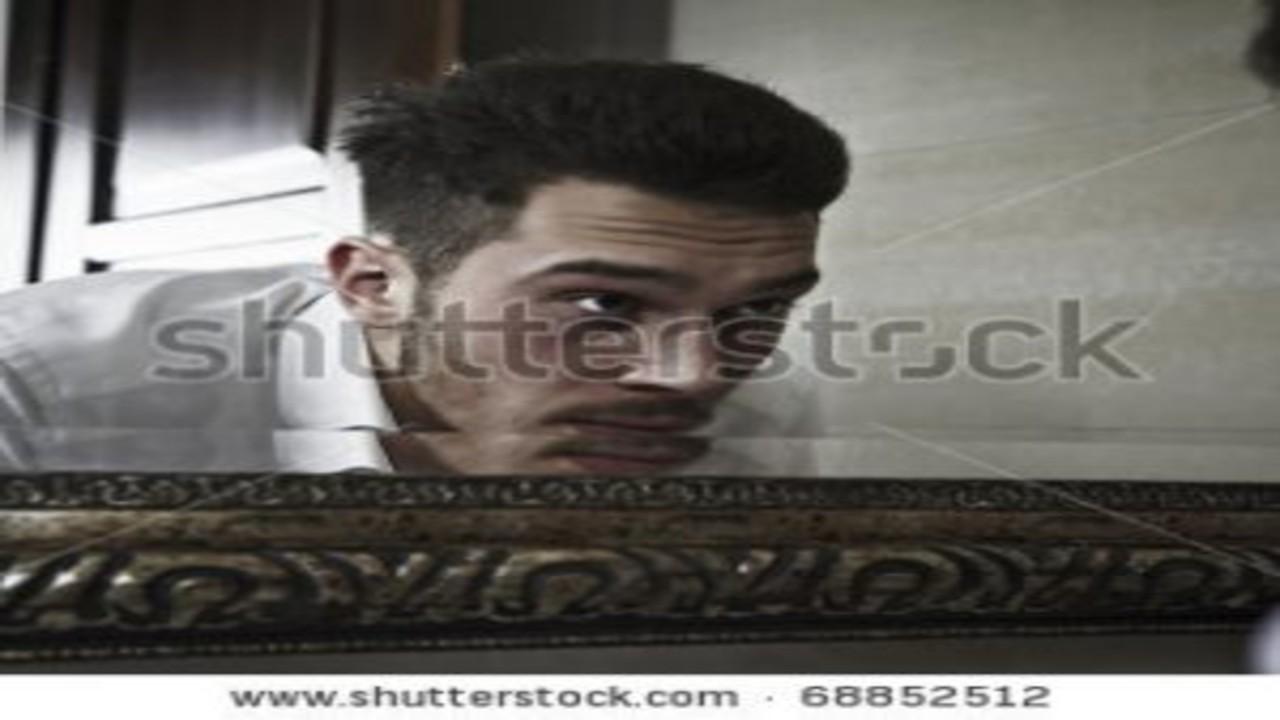 free画像,鏡,男性,洗面所