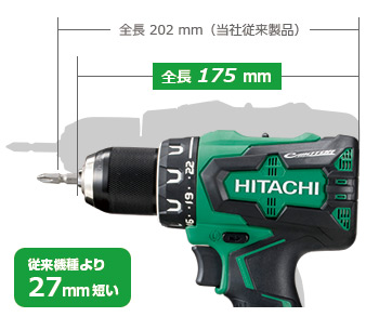 新製品,HITACHI,ドライバドリル,緑