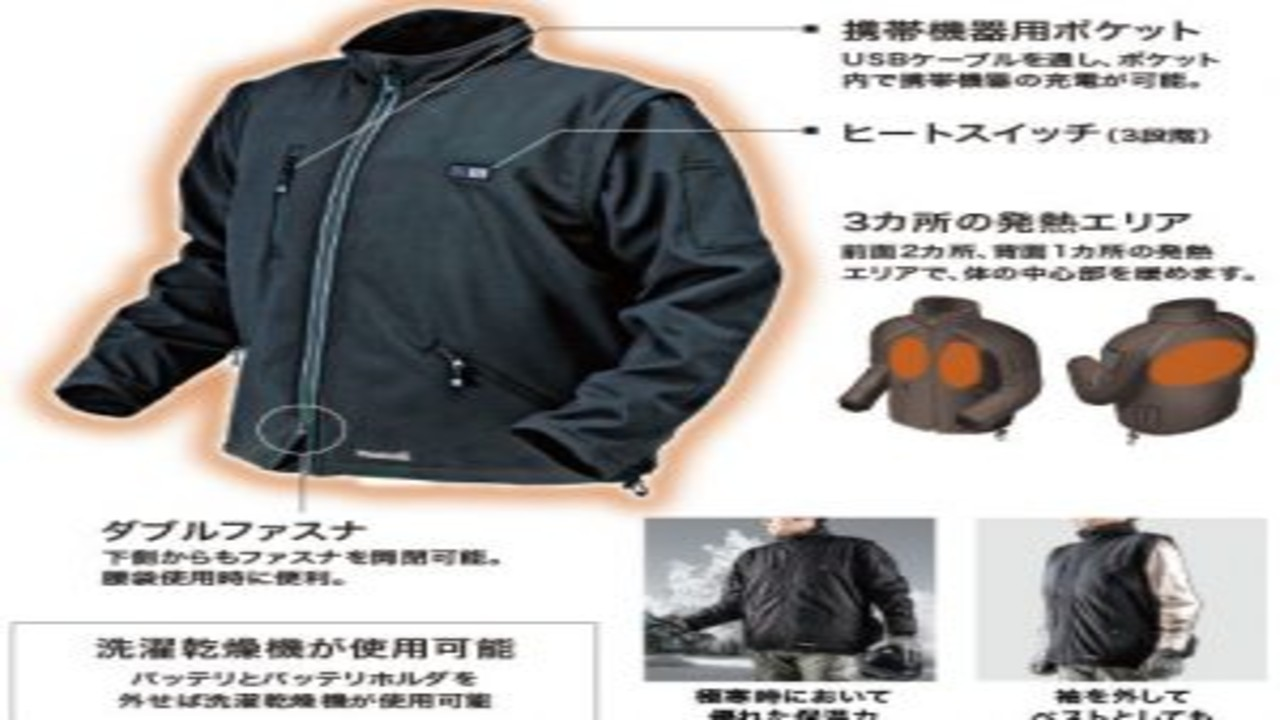 新製品,マキタ充電式ジャケット,ベスト
