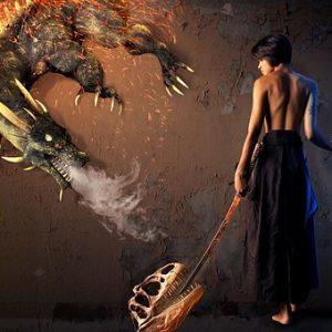 free画像,ファンタジー,ドラゴン,女性