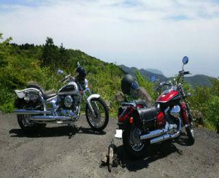 line画像,バイク2台