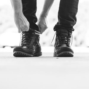 ブーツ,靴紐