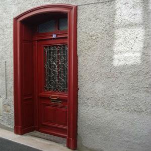 free画像,赤玄関ドア
