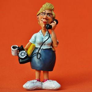 free画像,電話おばさん,秘書