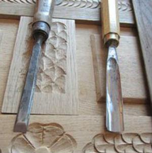 free画像,木彫り,彫刻刀2本