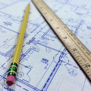 free画像,家の設計図,鉛筆