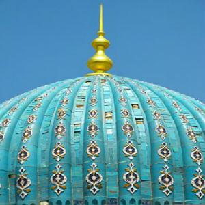 free画像,モスク屋根,ブルー