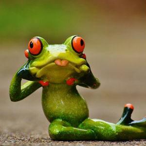 free画像,陶器蛙,舌