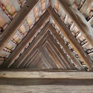 free画像,木造屋根,三角