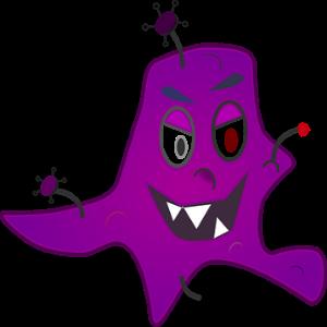 free画像,細菌,紫色,イラスト