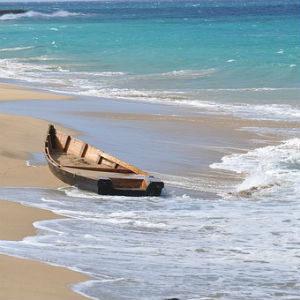 free画像,木製船,海,砂浜