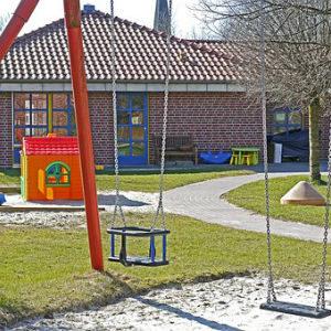 free画像,幼稚園,建物,ブランコ