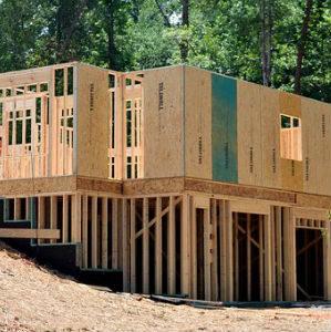 free画像,木造住宅,建築中,土台部分