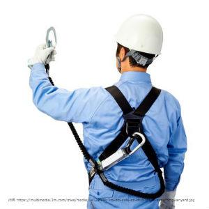 新製品,3Mランヤード,青作業着,男性