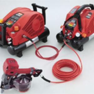 新製品マックス,高圧エアコンプ,赤色,連結