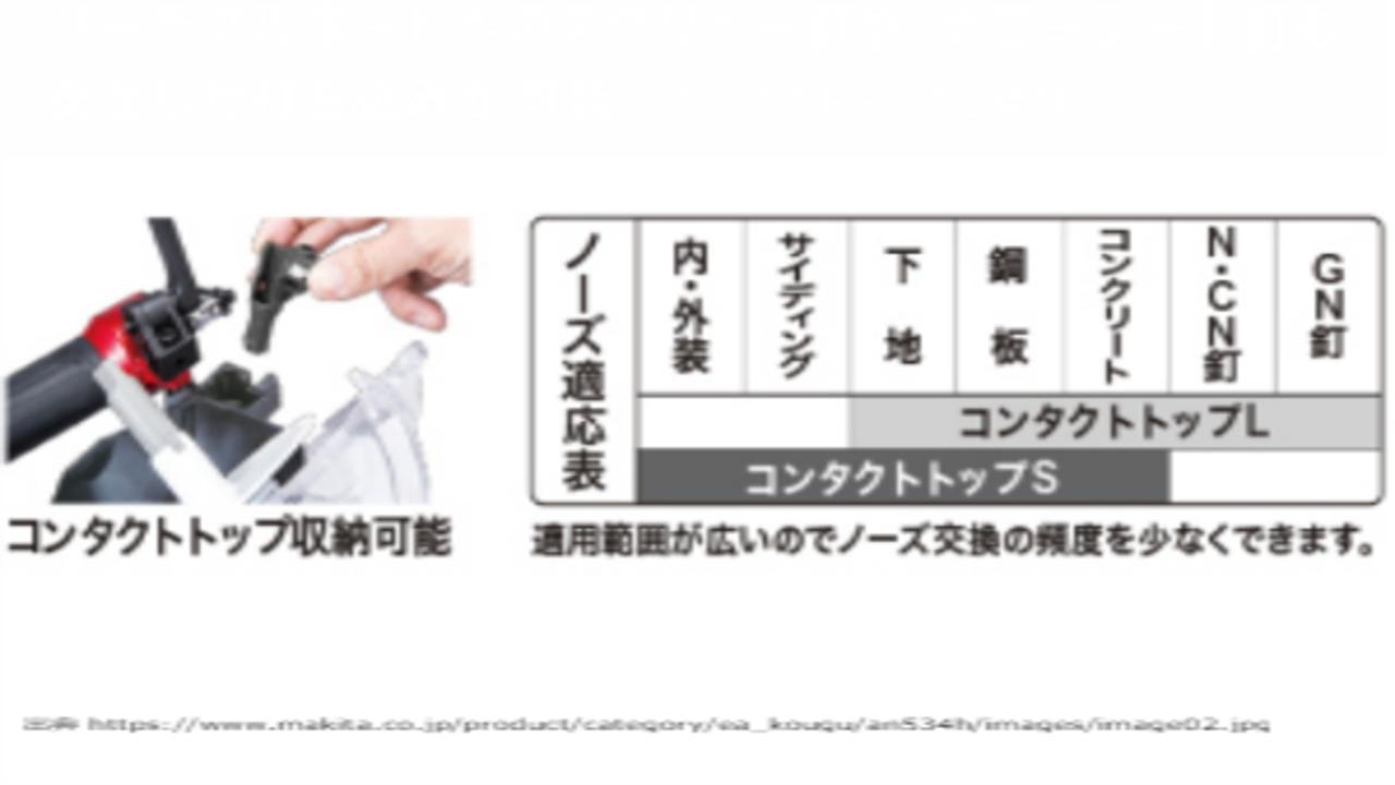 新製品,マキタ,an534h,エアダスタ付