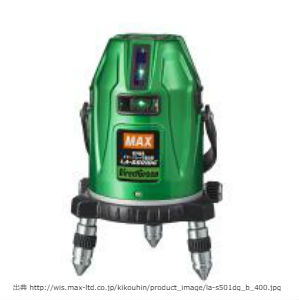 新製品,マックス,緑色,電子整準墨出器