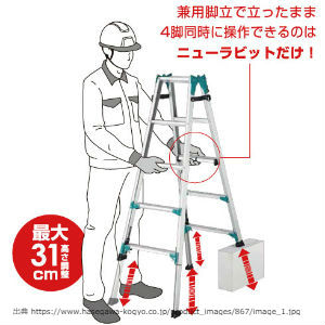 新製品,長谷川工業,はしご兼用脚立